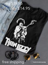 Thin Lizzy T shirt Phil Lynott Ireland Dublin 70's Metal Rock Blues Legend blk*