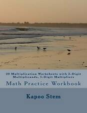 USED (LN) 30 Multiplication Worksheets with 2-Digit Multiplicands, 1-Digit Multi