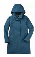 Nau Sequenchshell Blue Lagoon Trench Coat Women's Size Large 82028