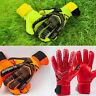 Kids Youth Adult Latex Soccer Goalie Keeper Goalkeeper Gloves Fingers Protector