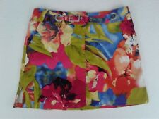 Bamboo Traders Company Women's Multi Color Belted Mini Skirt 12 Petite