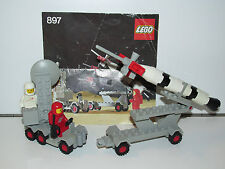 LEGO SPACE No 897 MOBILE ROCKET LAUNCHER 100% COMPLETE + INSTRUCTIONS - 1980s