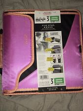 """Pink Mead 3"""" Zippered Binder 850 Sheets Laptop Sleeve Durable Water Resistant"""