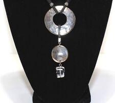 Woman's Metal Circle Necklace