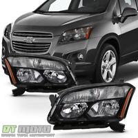 Black 2013 2014 2015 2016 Chevy Trax LS LT LTZ Headlights Headlamps Left+Right