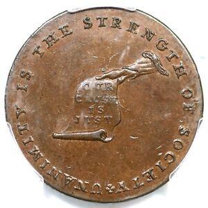 (1792) PCGS MS 62 BN LANCASTER Kentucky Cent Token Colonial Coin