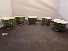 antique chinese ground enamel bowls