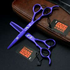 "2PCS 6"" Inch Left Handed Hairdressing Scissors Salon Barber Shear W/Leather Case"