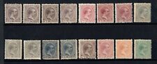 Philippines Islands Lot unused 16 stamps 1890-1897 to identify