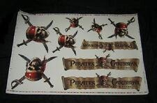 "Original PIRATES OF THE CARIBBEAN Movie Theatre Static Cling Decals 27"" X 40"""