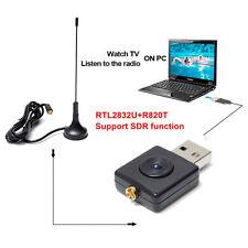 Black USB 2.0 SDR & DVB-T USB Stick Receiver RTL2832U + R820T Tuner + Antenna
