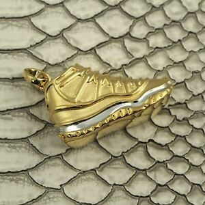 Gold Jordan 11 3D Sneaker Pendant