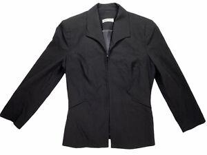 Lisa Ho Black Womens Jacket Blazer Top Size 8 Office Corporate