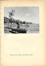Stampa antica FONDOTOCE di Verbania panorama Fondo Toce 1939 Old antique print