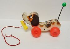FISHER-PRICE LITTLE SNOOPY Wood Dog Tog Pull Along '65-68 Vintage # 693