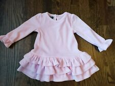 Mud Pie Pink Velour Layered Dress Ruffles 9-12 months