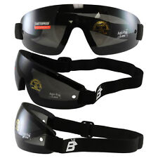 Birdz Wing Face Hugging Riding Goggles with Smoke Lenses