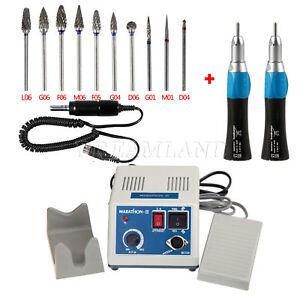 Dentaire Micro Moteur électrique & 2 Straight Pièce à main & 10pc Polishing Kit