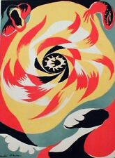 "Original Andre Mason 1938 Lithograph, ""The Sun"" from Verve"