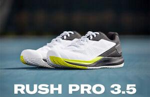 Wilson Rush Pro 3.5 M Men's Tennis Shoes White Racquet Racket NWT WRS327160
