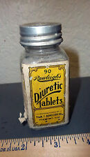Vintage Rawleighs Diuretic tablets glass bottle, great colors & graphics