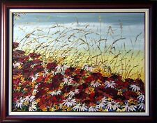 Maya Eventov Untitled Oil flower Canvas with beautiful Custom Frame ME012209-17