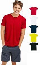 Mens ACTIVE-DRY Breathable Polyester Sports Athletic Raglan T-Shirt Tshirt