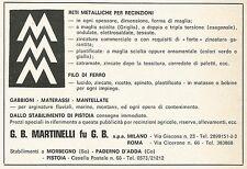 W3908 Reti metalliche per recinzioni MARTINELLI - Pubblicità 1972 - Advertising