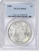 1886 Morgan Silver Dollar - PCGS MS-65 - Mint State 65