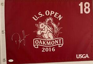 PGA Star Dustin Johnson Signed 2016 U.S. Open Oakmont Flag