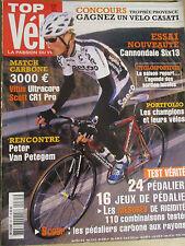 TOP VELO N°85: AVRIL 2004: CANNONDALE SIX 13 - MATCH CARBONE 3000€ - VAN PETEGEM