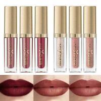 6 Color Set 3 Matte Glossy Lip Glaze Wasserfester-Make-up-Lippenstift Sale I0S3