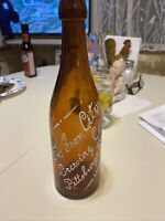 Vintage Amber Blob Top Bottle The Iron City Brewing Co. Pittsburg Pa