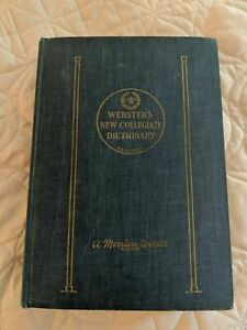Webster's New Collegiate Dictionary - Thin Paper - blue - 1953 - very clean!