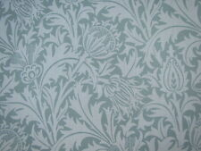 "WILLIAM MORRIS CURTAIN FABRIC ""Thistle"" 2 METRES SLATE/GOLD 100% LINEN"