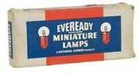 Vintage 1947 Eveready Miniature Lamps NOS Full Box of 10 PR-3 Flashlight 3.75V