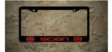 Scion logo Plastic License Plate Holder Frames Vinyl Decal iM iA TC FR-S Red