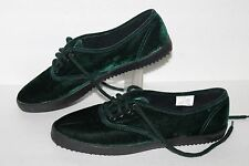 Daniel Green Velvet Casual Shoes, #99037, Forest Green, Women's US Size 6