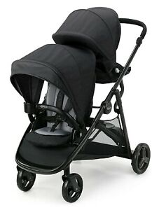 Graco Baby Ready2Grow LX 2.0 One-Step Self-Standing Fold Double Stroller Gotham