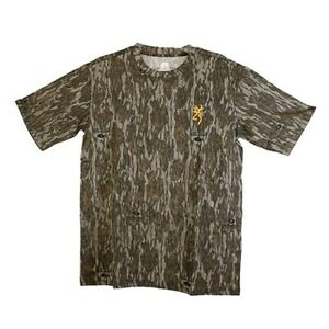 Browning 3017811902 Wasatch Mens MD Mossy Oak Bottomland Camo Hunting T-Shirt