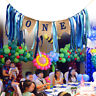 One 1st Birthday Party Bunting Banner Boy Girl Baby Shower Garland Decor