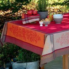 Jacquard mantel Provenza Teflon 160x160 algodón rojo naranja para todas las mesas