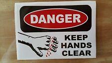 Keep Hands Clear Sticker