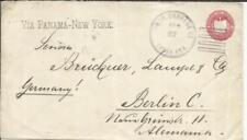 Salvador postal envelope-HG:B49-SANTA ANA FEB/27/1895-to GERMANY-VIA PANAMA