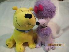 Clifford Plush Yellow T-Bone Puppy & Purple Poodle Kohl's 2011 lot of 2