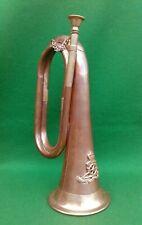 More details for vintage bugle - brass & copper.