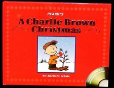 New Charlie Brown Christmas - Charles M. Schulz Hc Book w/ Dust Cover & Cd