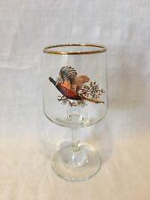 Brandy Sherry glass with Pheasant Bird decal