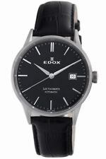 Edox Les Vauberts 80081 3 NIN Swiss Made Automatic Men's Classic Watch $1200 NEW