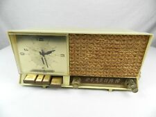 VINTAGE GE CLOCK RADIO GENERAL ELECTRIC RETRO TUBE PUSH BUTTON C-446A